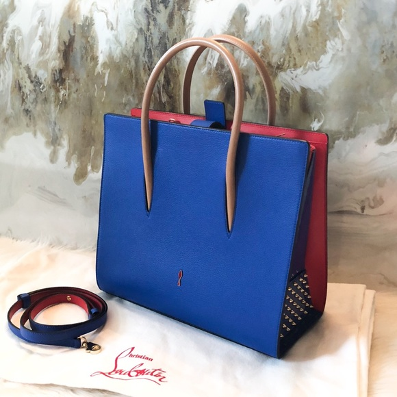 usa cheap sale release date release date: Christian Louboutin Bags | Blue Large Paloma Satchel Bag | Poshmark